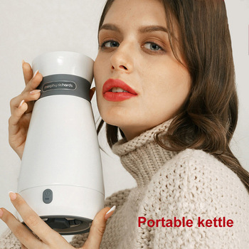 500ML Portable Electric Kettle Stainless Steel Double-Layer Vacuum Long-Lasting Insulation Mug Kettle Home office Travel Kettle