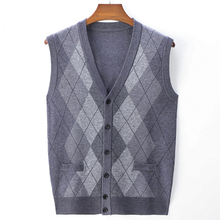 Autumn And Winter Warm Knitted Vest Men's Waistcoat Sweater Golf Men's Casual Vest
