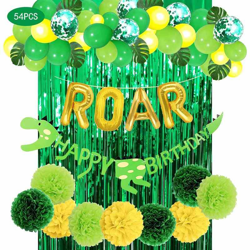 Party Dekoration Dschungel Safari Party Supplies Folie Ballons Tropical Palm Blätter Dino Geburtstag Party Hochzeit Decor