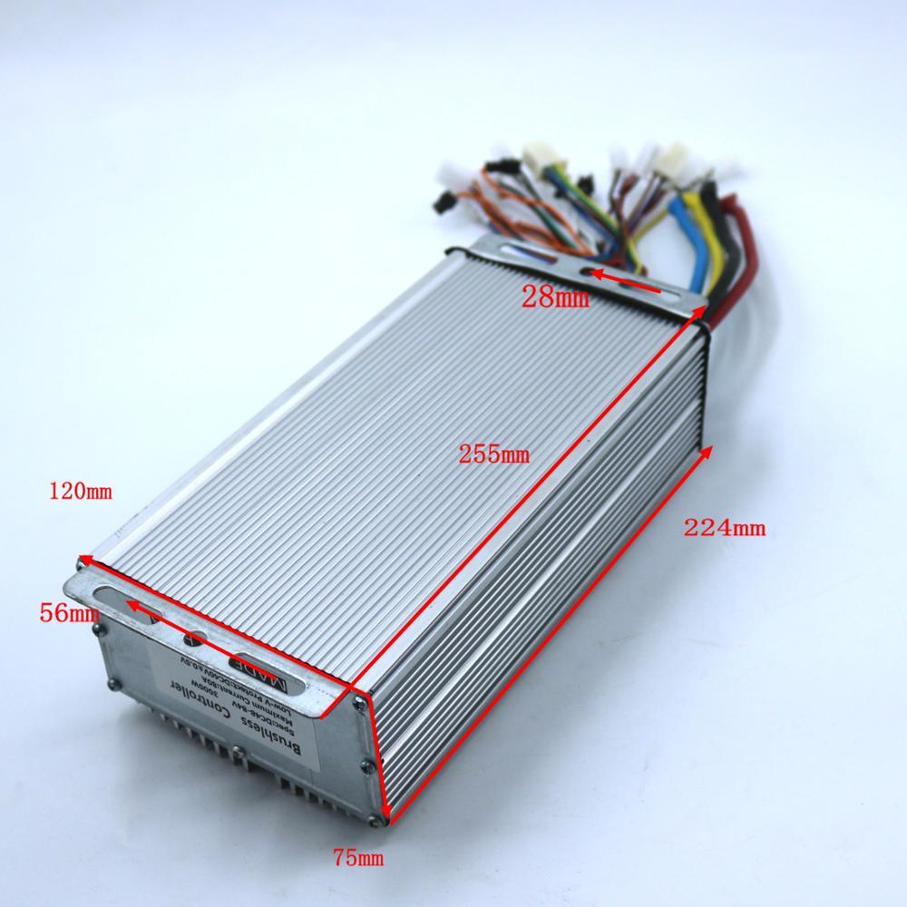 24FET 4110's 3000 Вт 48-72V 80Amax BLDC контроллер двигателя, EV Бесщеточный Регулятор скорости, сенсор и Бессенсорное