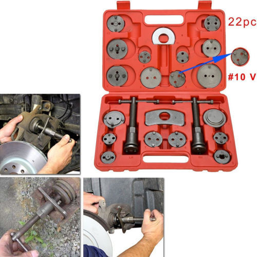 22pcs Universal Car Disc Brake Caliper Wind Back Brake Piston Compressor Tool Kit For Most Automobiles Garage Repair Tools 2