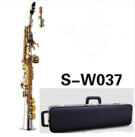 Japan saxophone SS W037 B flat Soprano Saxophone Musical Instruments Sax Brass Nickel Silver plated With Case Professional
