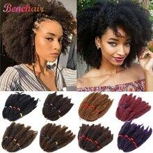 BENIHAIR Afro Kinky Marley Braid Hair Synthetic Braiding Hair Crochet Hair Ombre Bulk Crochet Hair Extension For Black Women Red