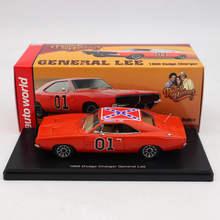 Mundo automático 1:43 para dodge carregador 1969 general lee vermelho awrss1151 edição limitada