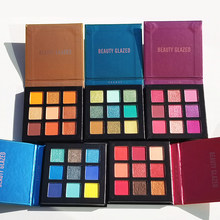 Beauty Glazed Pressed Palette Glitter Eyeshadow Waterproof Makeup Matte Eye Shadow Pigment Palette Maquillage Facial TSLM2(China)
