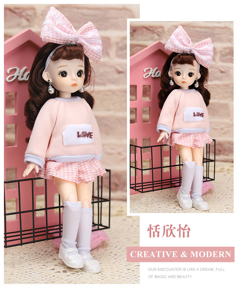 12 Inches Princess 30cm Joints BJD Suit Series Doll Toys for Girls Children Birthday Christmas Gifts 16