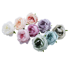 30/50pcs 7 CM silk roses Artificial flowers for Home decoration Christmas Wedding Diy Headwear brooc