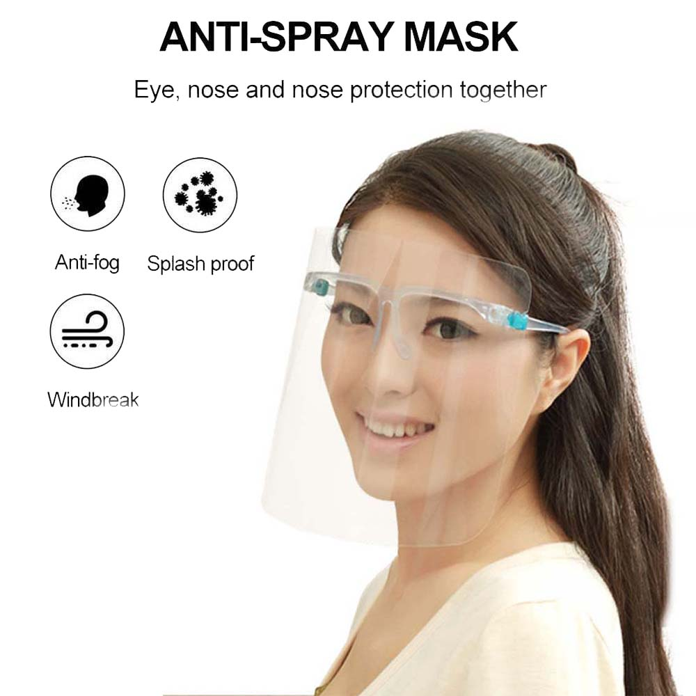 Cooking Work Safety Painting Face Protection Multi-Function Oil-Splash Proof Mask Dust Face Protective Gift Mask For Kitchen