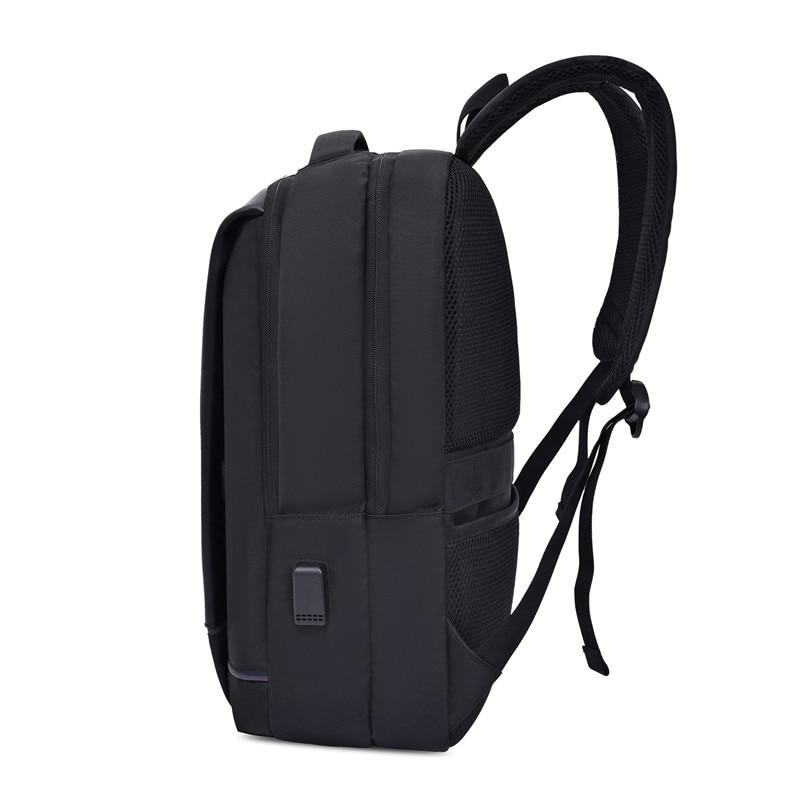 Image 5 - Mens Laptop Backpack Oxford Luminous Waterproof Backpack USB  Interface Business Travel Backpack Teenager School Bags  RucksackBackpacks