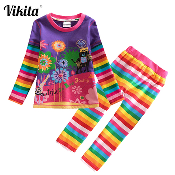 VIKITA Children Clothing Sets Toddler Girls Clothes Costume Outfit Suit Kids T shirt Pants for