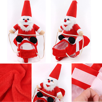 Christmas Dog Clothes Santa Dog Costumes Holiday Party Dressing up Clothing for Smal Medium Large Dogs Funny Pet Outfit Riding image