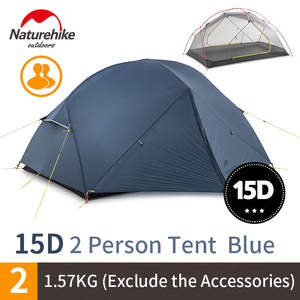 Naturehike Hiking Tent Pole Ultralight NH17T007-M Outdoor 2-Persons 20d Nylon Double