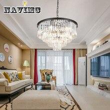 Американский блеск хрустальные люстры Светодиодные подвесные металлические светильники для комнаты светодиодное освещение люстра для столовой подвесные светильники