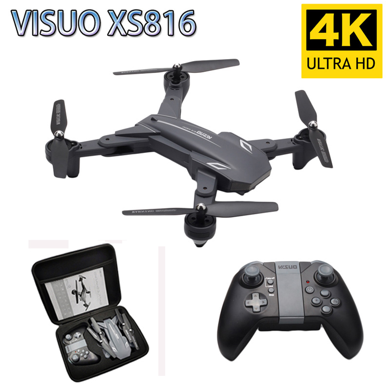 Visuo XS816 RC Drone 4K 720P Dual Camera WIFI FPV Drones Gesture Shooting Professional Selfie Drone VS XS809HW XS809S E58 SG106