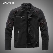2020 Men Winter Brand Leather Jacket Casual Motorcycle Winter Inner Fleece PU Coat Faux Leather Jackets Mens Clothing Streetwear