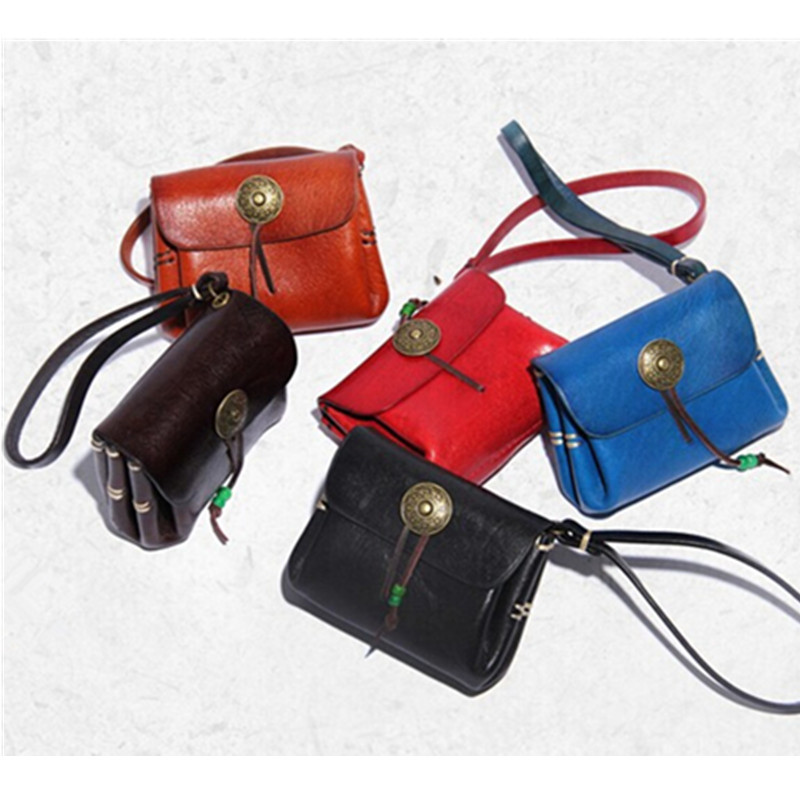 Retro Genuine Leather Handmade Wallet Literature And Art Fashion Women's Carrying Cowhide Mini Purse