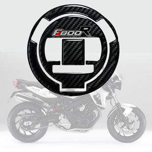 3D Carbon-look Motorcycle Gas Oil Fuel Cap Cover Decal Carbon Fiber Sticker Protect for BMW F800R F 800R Tankpad(China)