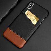 Funda de cuero delgada para tarjetas de crédito, Cartera de lujo para iPhone XS MAX XR X SE 2 2020 11 Pro 12 Pro Max 6 6S 7 8 Plus 5 5S