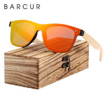 BARCUR Sunglasses Men Bamboo Sun glasses Wood Temples Vintage Eyewear for Women Men Accessories - DISCOUNT ITEM  49% OFF All Category