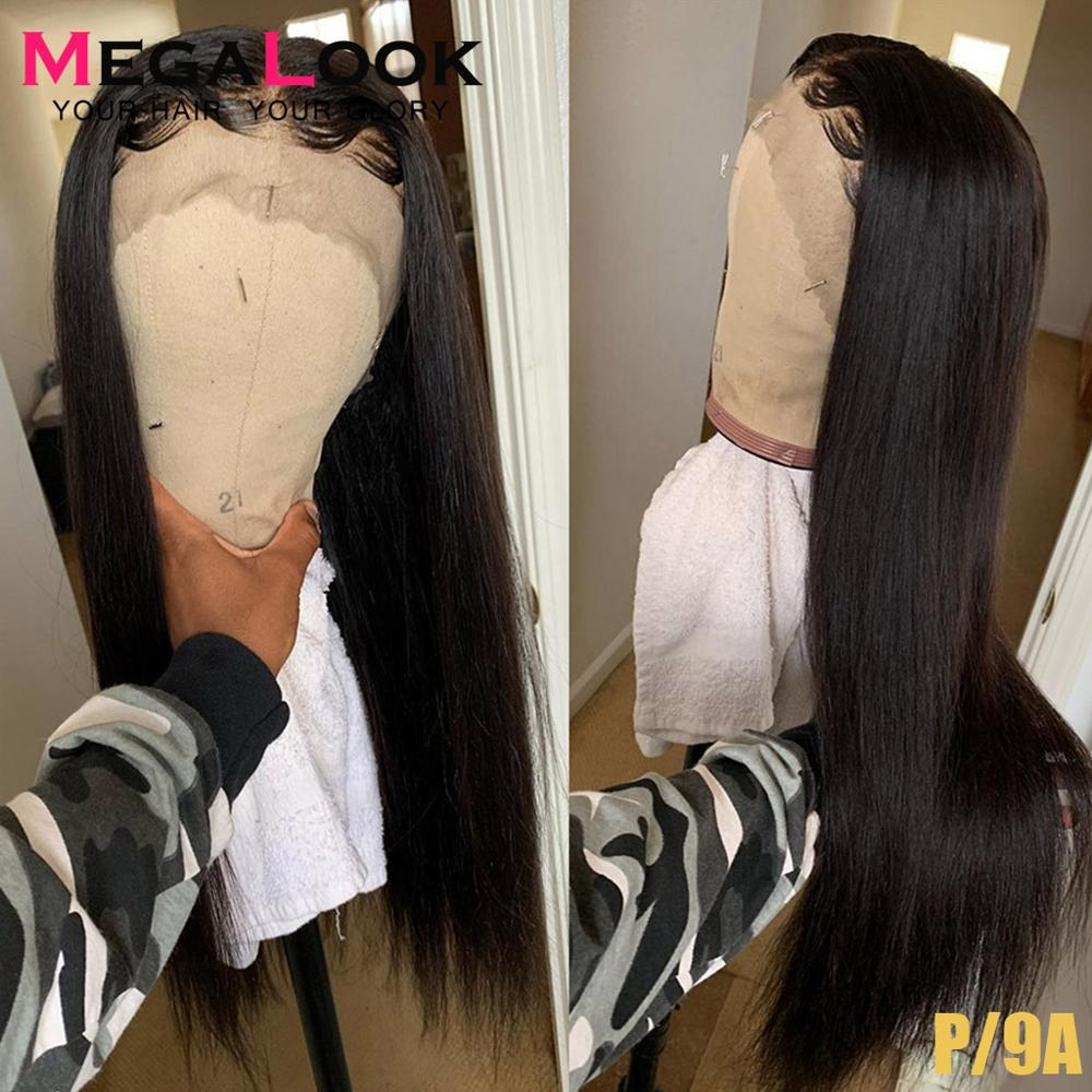 Straight Lace Front Wig 13x4 13x6 Lace Front Human Hair Wigs Megalook Hair 30 Inch Wig Black Remy Wigs For Women Human Hair Wig