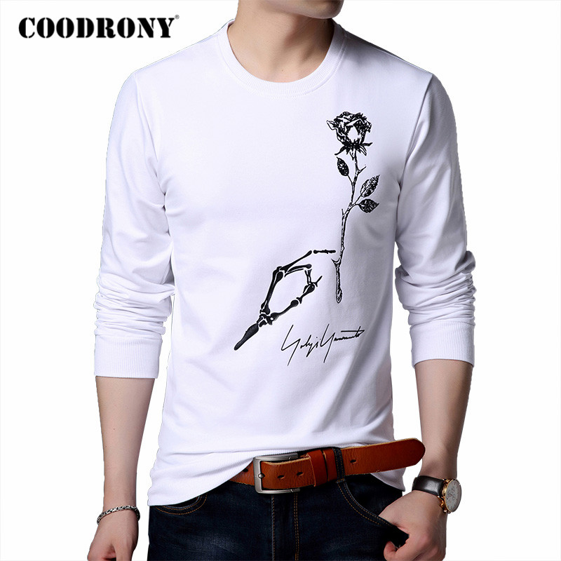 COODRONY Brand Hoodie Men 2020 Autumn New Arrivals Mens Sweatshirt Cotton Clothing Winter Fashion Floral Print Man Hoodies C4001