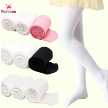 Pudcoco 브랜드 어린이 키즈 발레 댄스 bebe 유아 스타킹 footed seamless baby girl clothes ladies stocking 4 t 7 t 10 t(China)