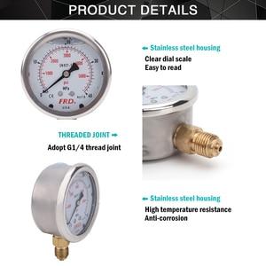 "Image 2 - High Pressure Washer Pressure Gauge High Pressure Pump Gauge with G1/4"" Fitting  Hydraulic Power Washer Gauge 400Bar 6000PSI"