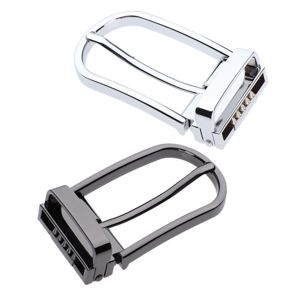 2pcs Man Gift Alloy Belt Buckle Single Prong Pin Buckle Replacement Repair Supply For Leather Belt Or Strap 28-29mm