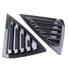 DWCX z włókna węglowego czarny samochód Auto tylne okno żaluzja pokrywa Vent Fit dla Nissan Sentra Sedan 2013 2014 2015 2016 2017 2018 2019