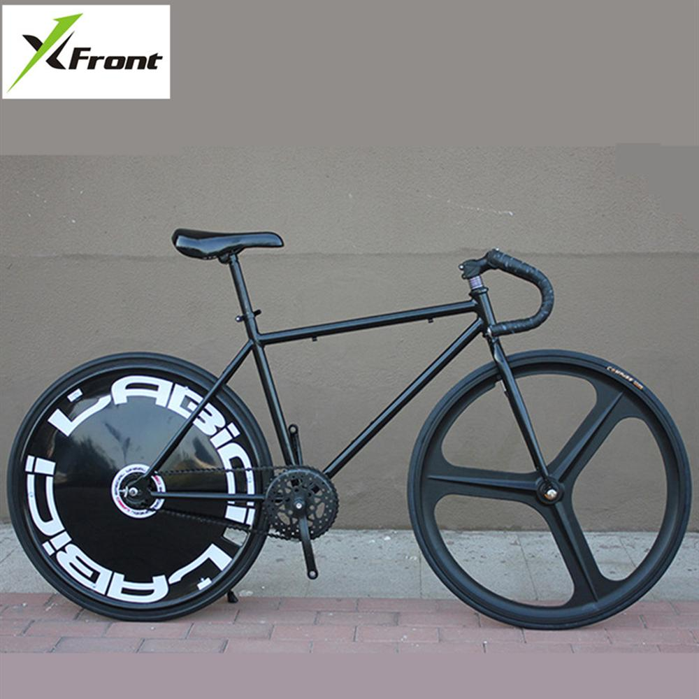 X-Front Brand Fixie Bicycle Fixed Gear DIY Single Speed Road Bike Reverse Brakes Male Female Bicicleta