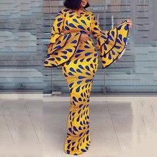ミニマリストのパーティードレス冬の秋のファッション薄型シンプルでエレガントなデザイナーベストセラースリム印刷vネックフレアスリーブ