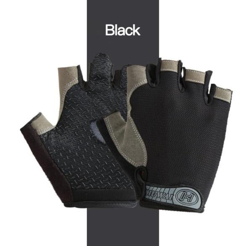 Перчатки на полпальца для мужчин и женщин, Нескользящие дышащие спортивные перчатки с защитой от пота, велосипедные перчатки, 2021