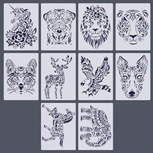 10 Sheet Animal Stencils Drawing Painting Templates for Kids Children DIY Scratching Art Craft Scrapbook Projects