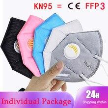 Respirador filtro de poeira kn95 máscara para rosto protetor pm2.5 ffp3 preto boca rosa branco respiradores ar anti fpp3 máscaras