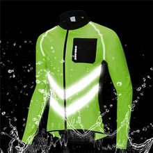 Men Cycling Jacket MTB Riding Fishing Windbreaker Reflective Water-repellent Long-sleeve Shirt Bike Sports Raincoat
