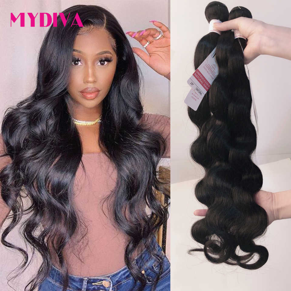 Body Wave Brazilian Hair Weave Bundels 100% Human Hair Bundels 3 4 Pcs 30 32 34 36Inches Natuurlijke Kleur remy Hair Extensions