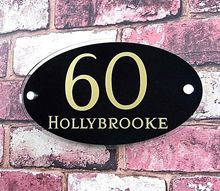 House number plate  Modern House Sign / Number / Plaque in a choice of colors   address number office sign custom made 2 tile address plaque in grey