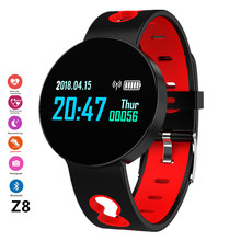 Z8 Smartwatch Blood Pressure Heart Rate Monitor Smart Watch IP67 Waterproof Wristband Sport Fitness Trakcer watches Men Women Fo(China)