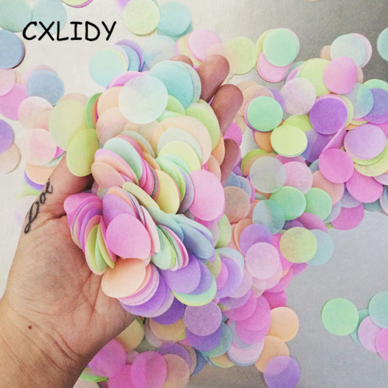 25g Round Confetti Tissue Paper Pink Dots Filling Balloons Baby Shower Unicorn Birthday Party Decorations Kids DIY Accessories (3)