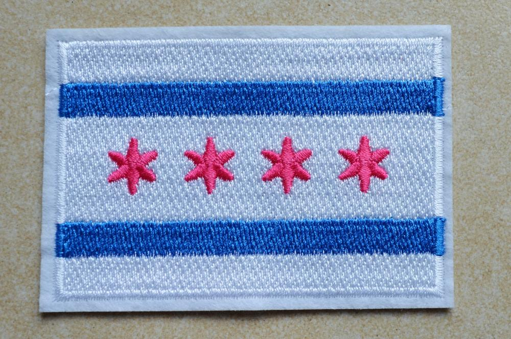 """/""""SPRINGFIELD ILLINOIS/"""" State Shape Capitol City Iron On Printed Patch"""