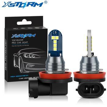 цена на 2Pcs H8 H11 LED Fog Lights Bulb 9005 HB3 9006 HB4 Led Lamp Auto Day Driving Super Bright 1600LM 6000K White 12V Automobiles