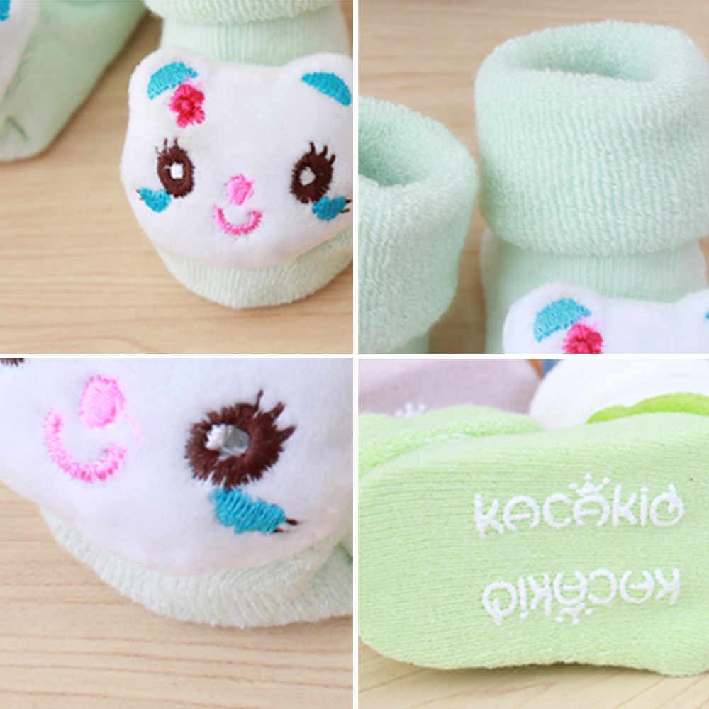 Calcetines cálidos antideslizantes para niños y niñas recién nacidos con dibujos animados, zapatillas, zapatos, botas para bebés de 0 a 12 meses, calcetines suaves y cálidos, triangulación de envíos