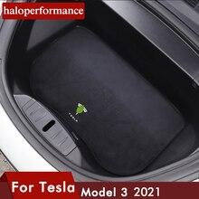 Model3-alfombrilla frontal para maletero de coche, accesorio impermeable para todo tipo de clima, para Tesla modelo 3 2021, Modelo 3 2017-2021
