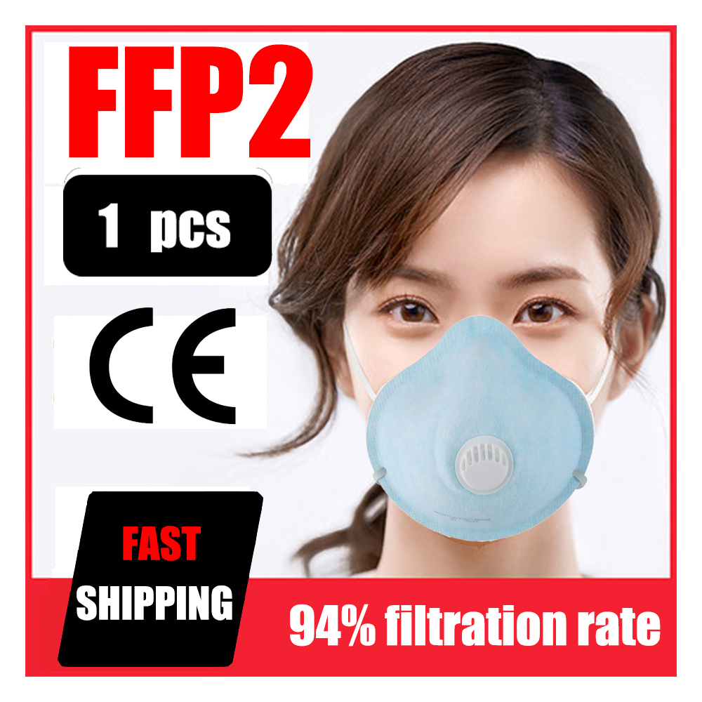 1pcs Mask Non-woven With Valve Mask Breathing Valve Mask Round Mask Anti-fog Mask Dust-proof Mask Face Protective Mask