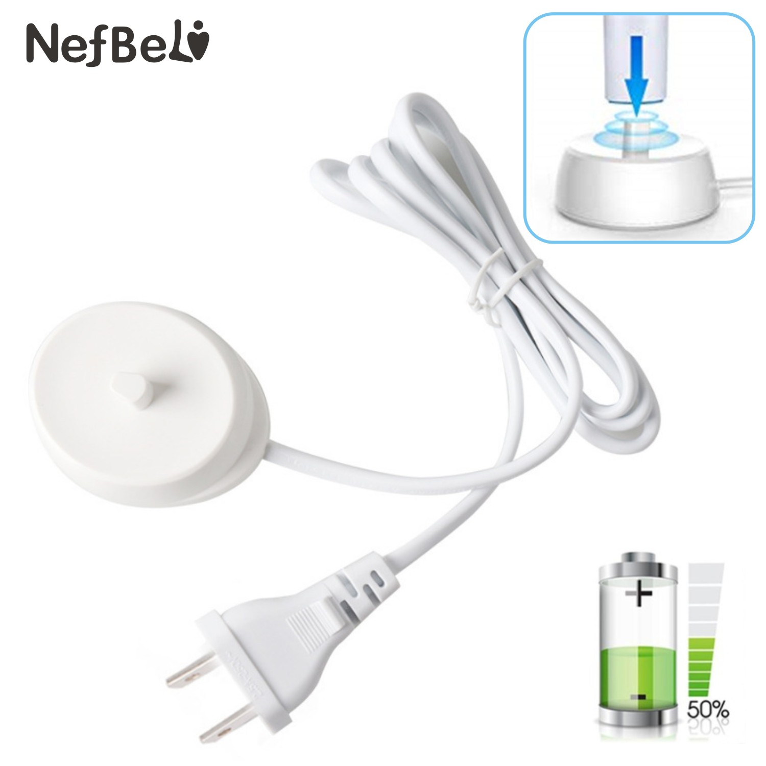 Replacement Electric Toothbrush Charger Model 3757 110-240V Suitable Oral b D12 D16 D20 D29 D34 1000 3000 4000 Charging Cradle image