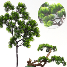 1 Pcs 42CM Artificial Plant Pine Branch Plastic Green Plants Fake Branches For Home Office Deor Decorative