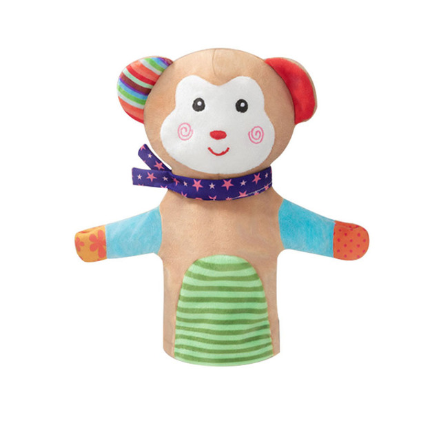 Lovely Animal Plush Hand Puppets Childhood Kids Story Pretend Playing Dolls for Baby