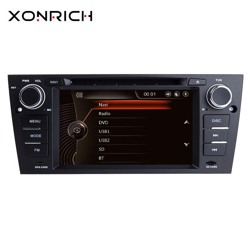 Xonrich 1 Din Car Multimedia GPS Navigation For BMW E90/E91/E92/E93 3 Series Radio Stereo head unit audio dvd Screen player BT