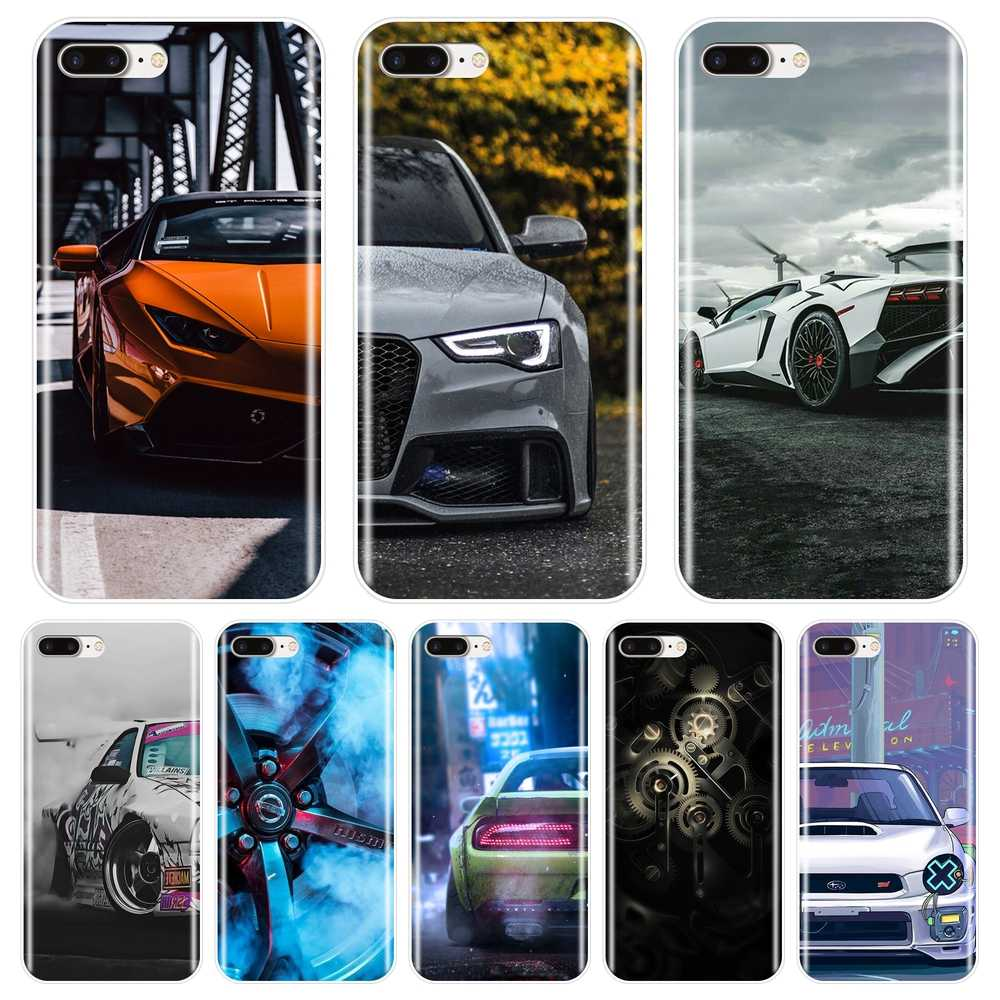 Auto Sportscar Band Cool Telefoon Case Silicone Voor Apple Iphone X Xr Xs Max 8 7 6 S 6 S soft Cover Voor Iphone 6 S 6 S 7 8 Plus