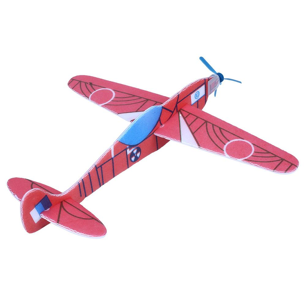 2019 Hot DIY Gliding Aircraft Toy Polystyrene Helicopter Model Children Puzzle Airplane Model Stitching